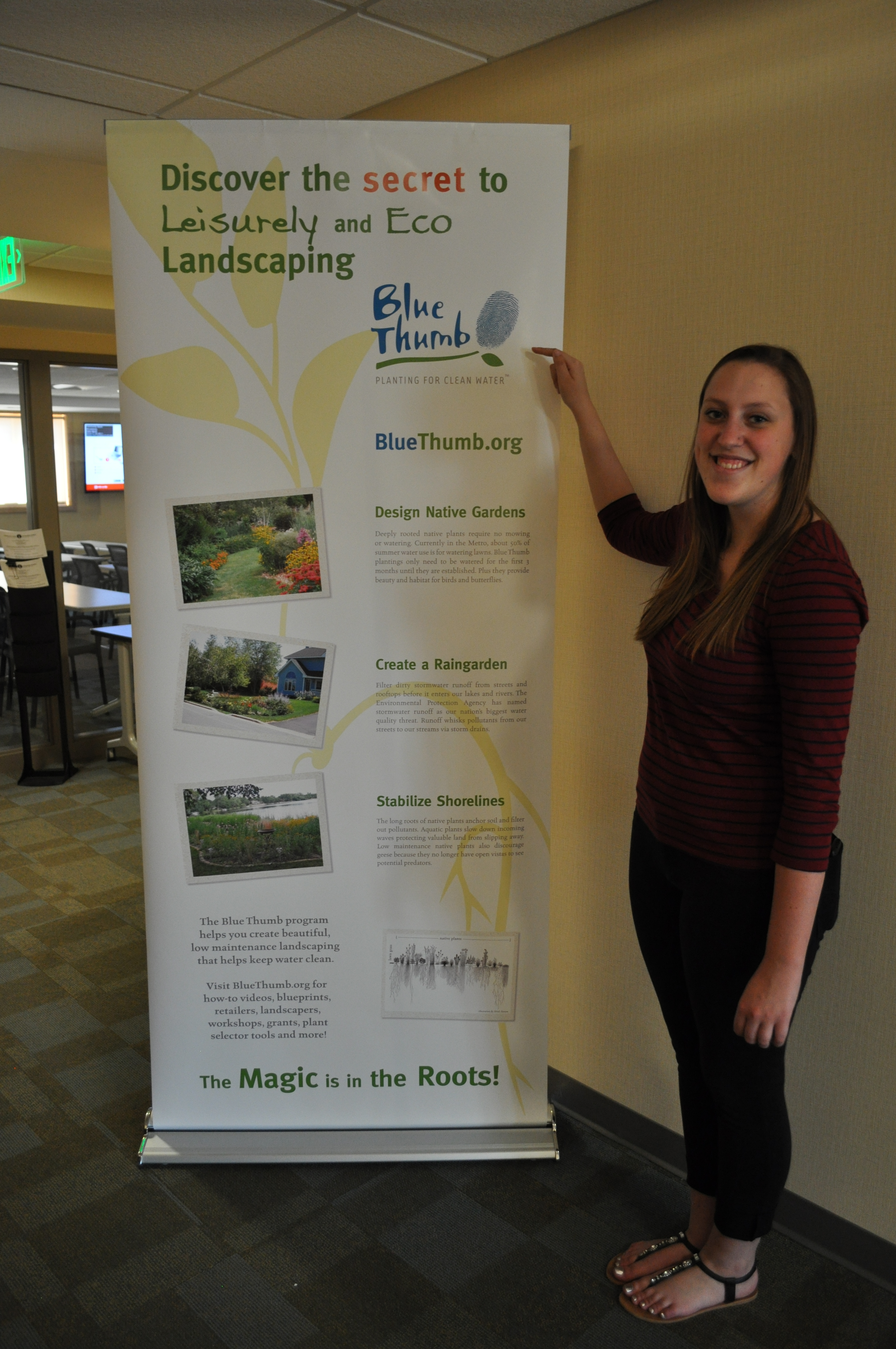 Eco landscaping banner