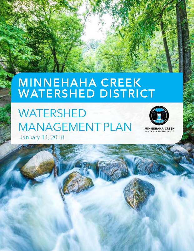 Watershed Management Plan Cover: Minnehaha Creek Watershed District Watershed Management Plan January 11, 2018 MCWD logo