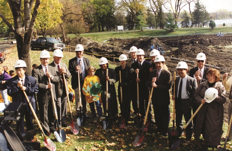 Breaking ground Chain of Lakes Partnership