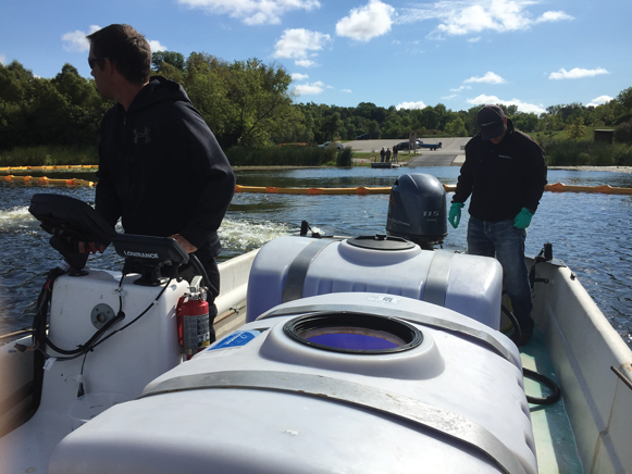 Treating for zebra mussels