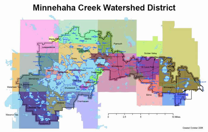 MCWD watershed map