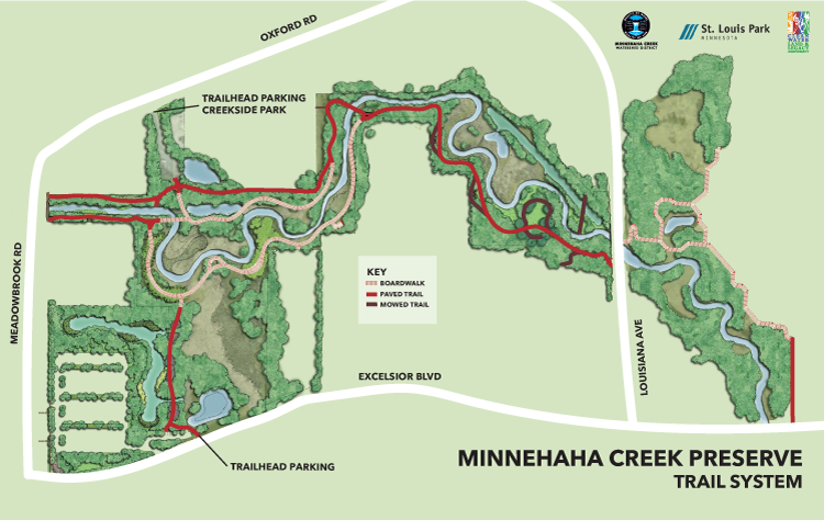 Minnehaha Creek Preserve trail map