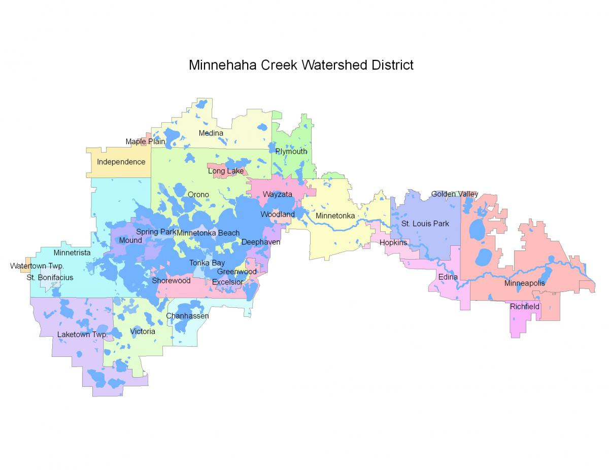 Map of the Minnehaha Creek Watershed District