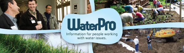 Waterpro for people working with water issues logo