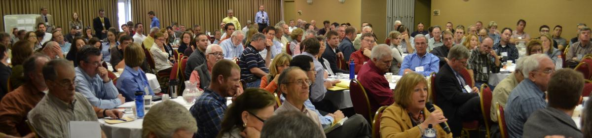 Attendees of the 2012 Minnesota AIS Symposium, hosted by the MCWD.