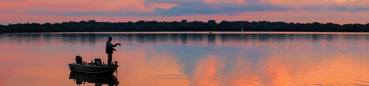 Angler on Lake Harriet (credit: Stan Waldhauser)