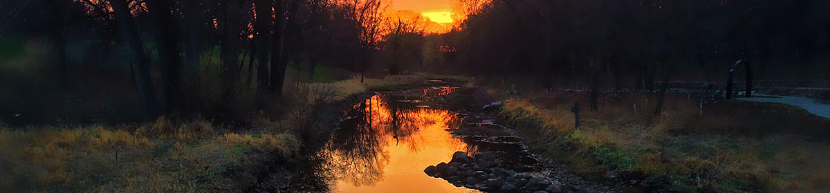 Sunset on Minnehaha Creek in Minnetonka (credit: Aldo Abelleira)