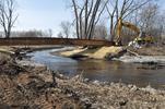 Construction of creek remeander