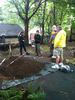 Master Water Stewards working on a garden