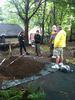 Master Water Stewards working on a garden