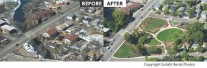 Before and after aerials of Cottageville Park