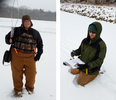 Researchers tracking radio tracking carp under the ice