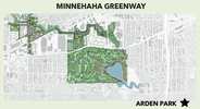 Greenway map showing Arden Park