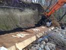 Laying erosion control fabric