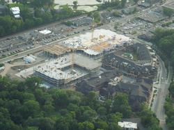 Aerial of the Promenade Construction