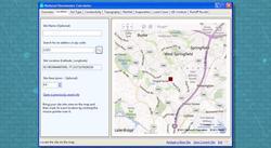 Screenshot of the national stormwater calculator